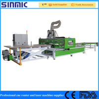 Auto loading and unloading system cnc router/cnc machine for window,car house,doors and so on