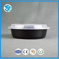 700ml round bento case fast food delivery packaging plastic shaped box