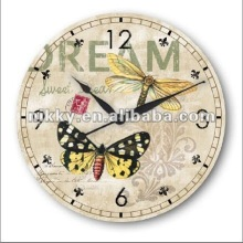 2012 wholesale Canvas Covered Wooden Wall Clock