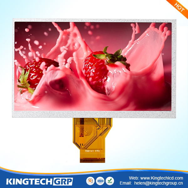 7 inch 800x480 stripe dot arrangement bar type spi/rgb interface rgb lcd without resistive touch panel