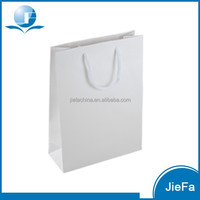 High Quality Glossy White Paper Gift Bags