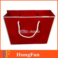 High Quality branded paper shopping bag with logo