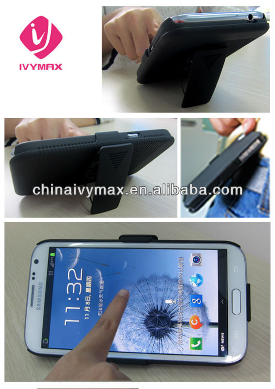 case with stand for Samsung galaxy note 2 N7100 holster combo case