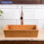 Bamboo natural color bathroom vessel basins/sinks without overflow hole