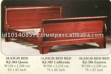 Sleigh Bed Mahogany Indoor Furniture