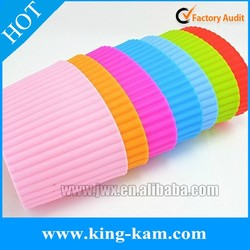 Colorful silicone cup sleeve silicone rubber sleeve OEM acceptable