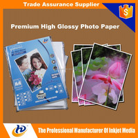 "4x6 4R 5x7 5R A4 A3 10*15 13*18 8.5""*11"" 115gsm Cast Coated High Glossy Inkjet Photo Paper"