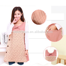 Wholesale fashion cheap custom cotton apron salon / kitchen aprons