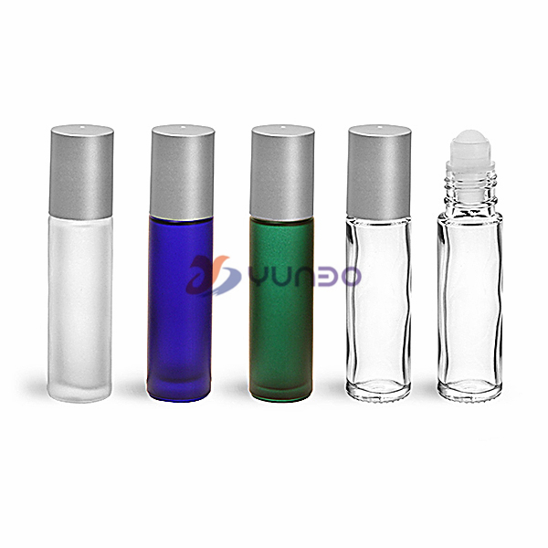 Multi Colored 10 Ml Glass Roller Bottles For Essential