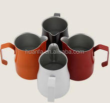350/500/750 ml Colorful Stainless Steel Professional Milk Pitcher/Jugs for Espresso Machine