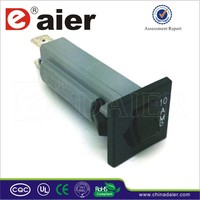 Daier 2PIN Single Pole Rocker Type 3~20A 150/250VAC Long Body ZE-800 Mini Circuit Breaker