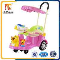 Plastic car toy kids ride on wiggle car big wheels swing car with push handle