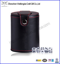 Personalized wholesale leather dice cup for promotion