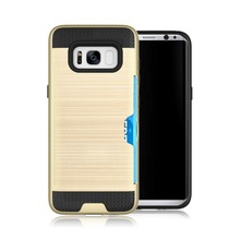 High quality shockproof rugged hybrid rubber brushed phone case for Samsung Galaxy S8