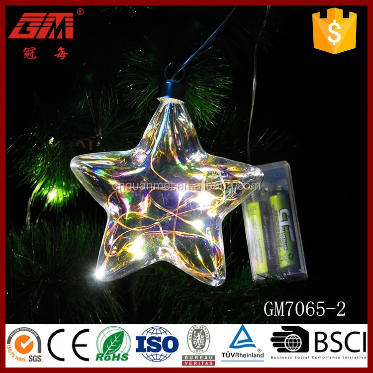 Battery operated Christmas tree decorative star shape led christmas lights