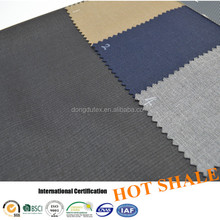 Blend woven dyed rayon polyester tr 75 25 uniform suit fabric in shaoxing