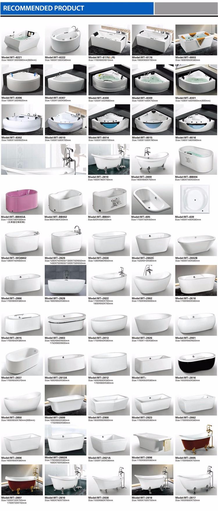 Modern Bathroom Corner 1.3m Jet Whirlpool Massage Bathtub For Mini ...
