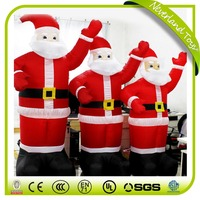 inflatable large santa with gift,25ft christmas inflatable santa,giant inflatable santa