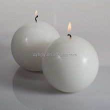 Customized Candle Shaped Paraffin Wax Art Ball Shaped Round Candle