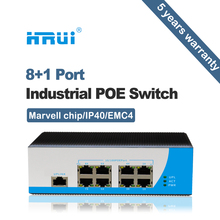 10/100Mbps 8 port poe industrial switch with 1 uplink ethernet switch