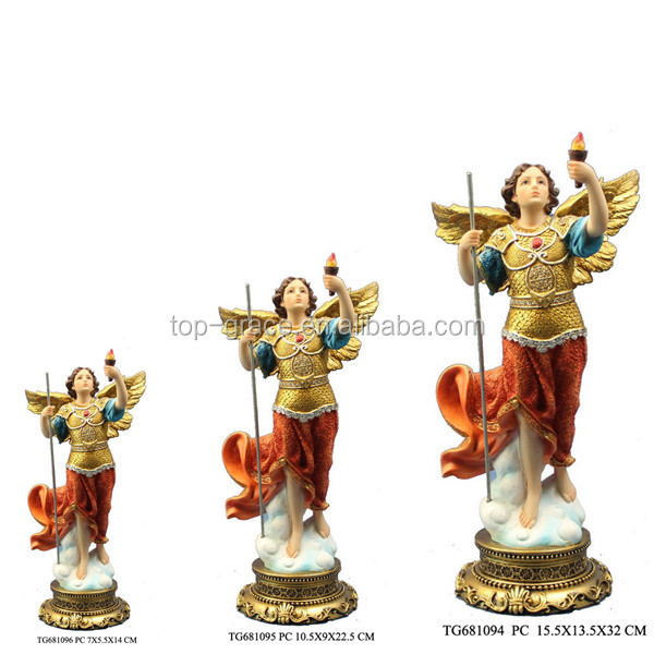 Polyresin seven archangel uriel of christian religious figurine