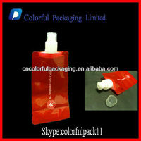 Hot sale drinking pouches nylon material avoid leakage