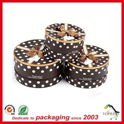 Beautiful design cake paper box packaging round cake case with flat lids