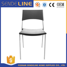 Plastic dining chair/dinning table and chair with metal legs