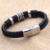 Delivery home Wholesale custom stainless steel genuine leather bracelets for men