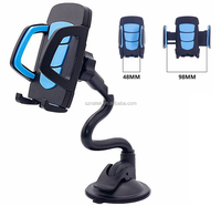 long arm clamp car phone holder, flexible long Neck Car phone Mount with strong suction cup compitble with phone X plus S9