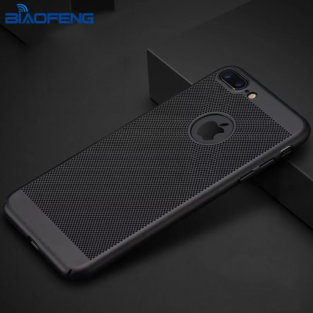 Cell Phone Accessories Mobile 2018 Mesh TPU Matte Hard PC Case Cover for iPhone X