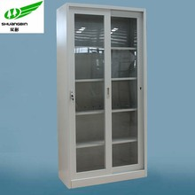 China hot sale modern office home stainless steel metal home cupboard sliding glass door filing cabinet price