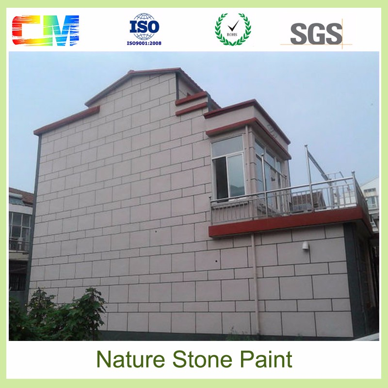 Climate and mildew resistant low VOC removable exterior rough texture brick stone wall paint