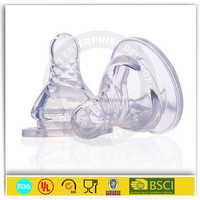 baby transparent Normal neck feeding/feed bottle silicone nipple/teat