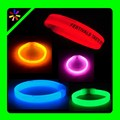 glow in dark colorful slap bracelet glow wristbands in competitive price