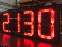 IP65 REGULAR 4 digits red 7 segment electronics scoreboard wireless gas station led price sign