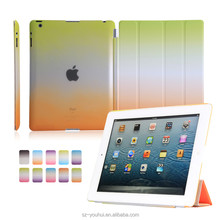 Factory Price Smart Magnetic PU Flip Cover Hard Back Case for iPad