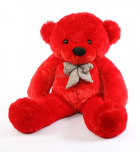 Bitsy Cuddles Soft and Huggable Bright Red Teddy Bear