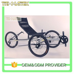 Custom-made new fashion recumbent e trike