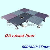 Raised access flooring with OA