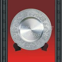 2014 pure tin metal plate plaque awards, dragon pattern