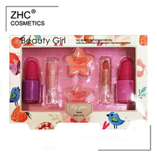 ZH2615 Kids makeup set with kids cosmetics include kids lip stick, lip gloss and nail polish