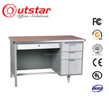 modern executive desk steel office table design with three drawers