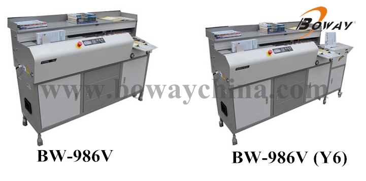 BW-986V Y6 perfect glue binder machine with creasing function