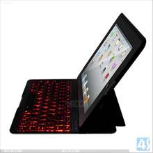 Amazon New Products For iPad 2/3/4 Lighting Bluetooth Keyboard Leather Case P-iPAD234CASE092