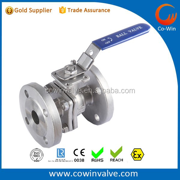 HeBei 2PC Flanged Ball Valve PN16/PN40 CF8/CF8M