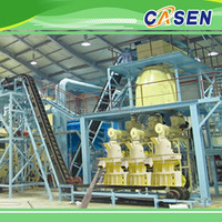 Factory supplying 2t/h animal fish feed pellet production line/floating feed pellet processing line price