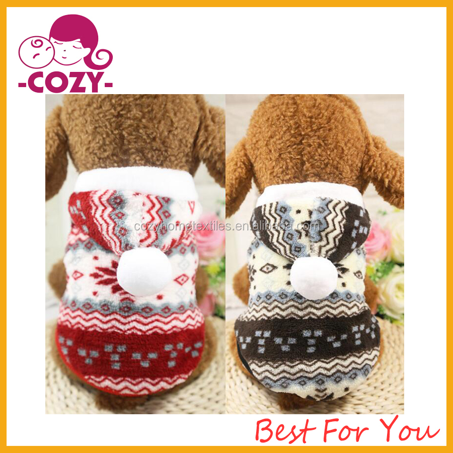 2017 Hot Sale Dog Costume Sweater Snowflake Puppy Clothes Winter New Year Christmas for Small Dog and Cat