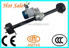 trike rear axle with gear motor for electric rickshaw tricycle, axle with dc motor