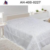 Hotel Used Solid Quilted Bedspread